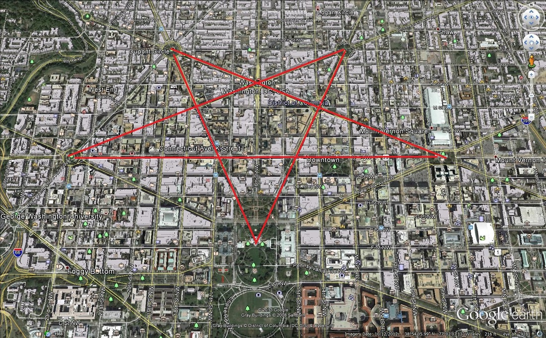 Embedded Symbols in Washington DC Streets - Uprizing Nation